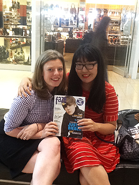 Siobhan and Jenny with their fave issue of Faze