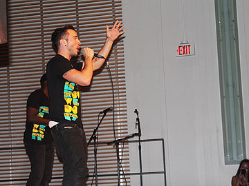 Free The Children Kielburger Shawn Desman performs for the crowd