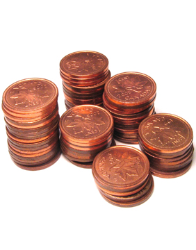 pennies money Money hungry prank for April Fools' Day