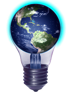 lightbulb, global ideas