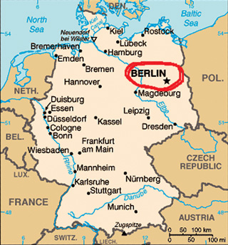 Berlin in Map of Germany