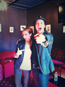 Gavin DeGraw and lucky Faze girl Dana Krook