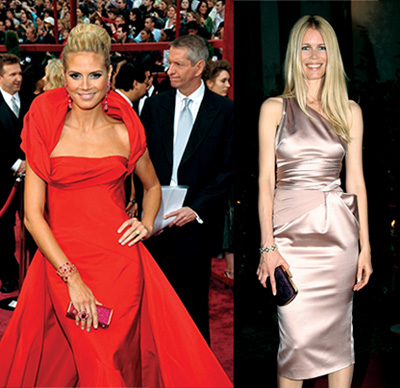 German supermodels Heidi Klum and Claudia Schiffer