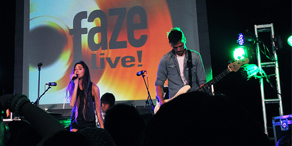 Crystalyne at a Faze Live! event