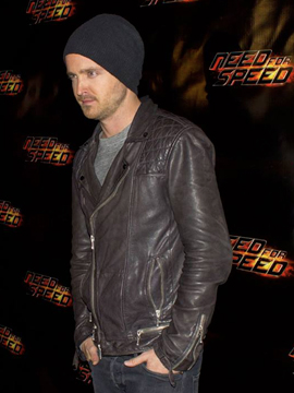 Aaron Paul walks the red carpet in Toronto at the Need For Speed Premiere