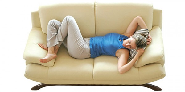 women on couch tired burnout
