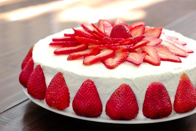 Decorative Strawberry Cake