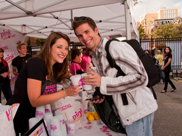 Because I Am A Girl Pink LemonAid Event Paula Brancati and Chris Nosal (big fan!)