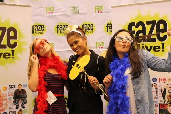 Dana, Lorraine and Jessica letting loose at the Faze photo booth at the Student Life Expo