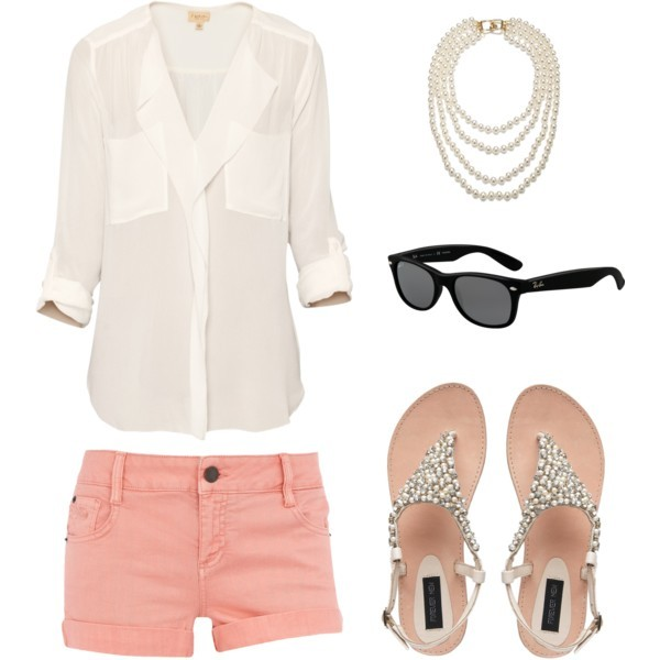 Spring outfit featuring chunky necklace