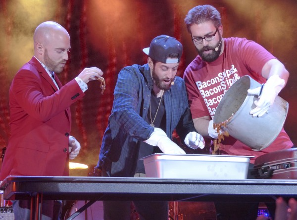 Epic Meal Time makes food on stage