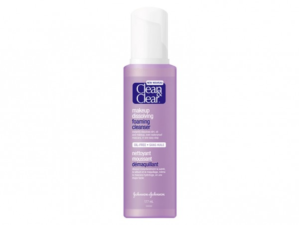Clean and clear makeup dissolving foaming cleanser