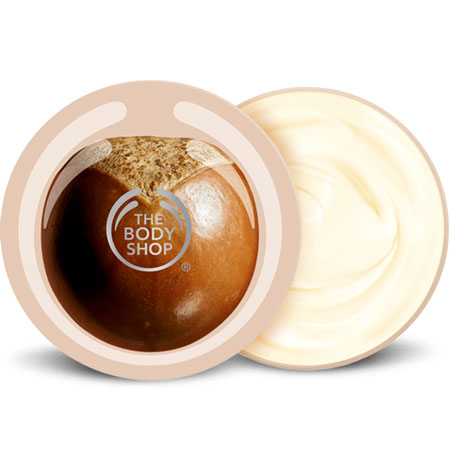 Mini bottle of the body shop body butter