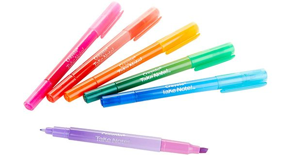 Crayola Take Note Double ended pen-highlighter