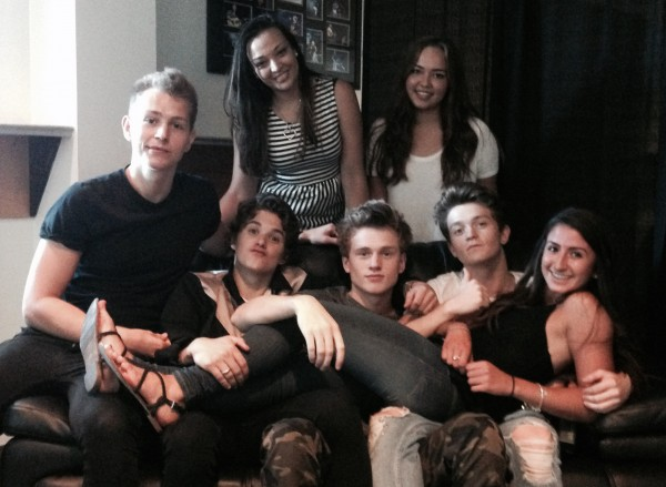 Jessica, Holly, and Daniella snapped a picture with The Vamps after their interview at Big Ticket Summer!