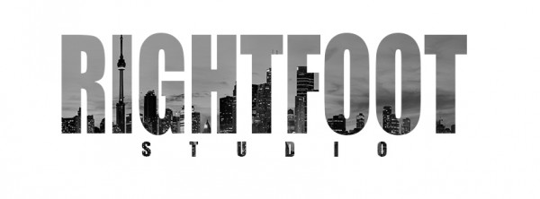 RIGHTFOOT STUDIO TORONTO SKYLINE WHITE&BLACK