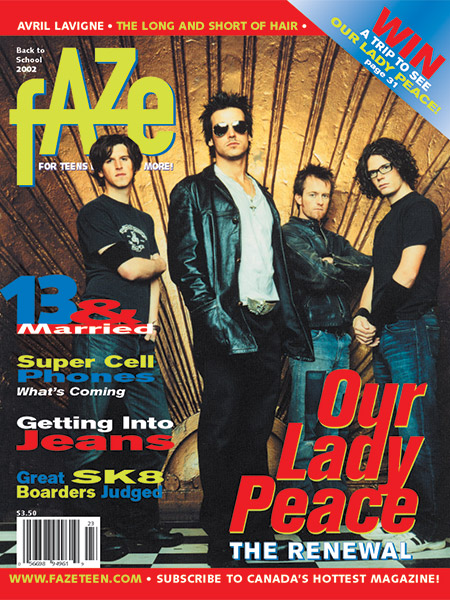 Our Lady Peace on Cover of Faze Magazine