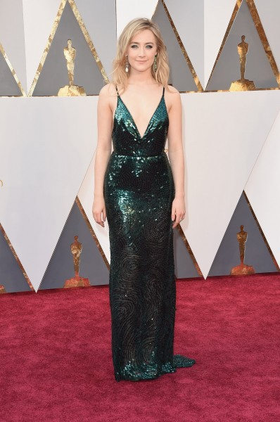 Saoirse Ronan, oscars, dress, red carpet