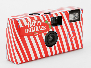 disposable holiday themed camera
