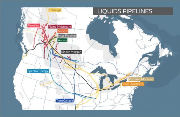 Canadian Oil and Natural Gas Liquids Pipeline Map