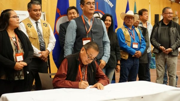 treaty signing against pipelines expansions