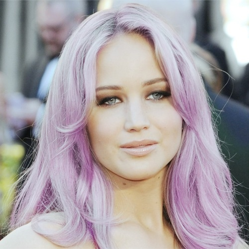 purple hair Jennifer lawrence