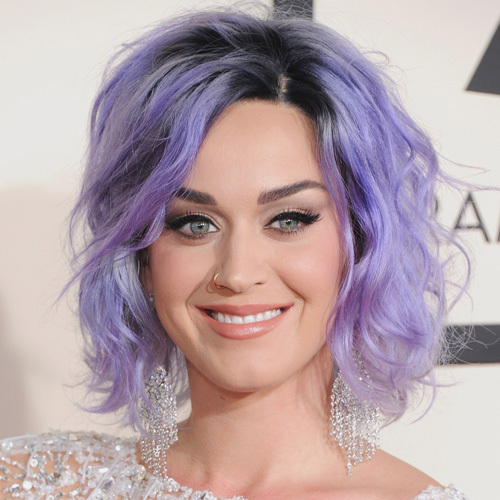purple hair katy-perry