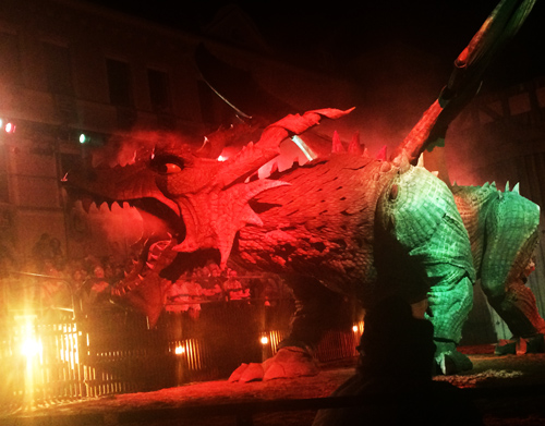 fierce dragon from the Drachenstich play.