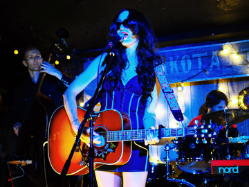 Lindi Ortega performing at her CD release party for LITTLE RED BOOTS