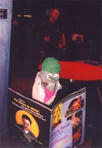 Ed The Sock reading Faze Magazine