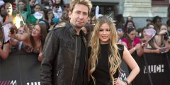 Avril Lavigne and Chad Kroeger at the MMVAs Much Music Video Awards