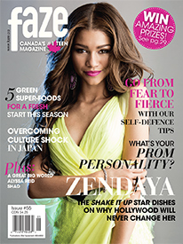Zendaya on cover Faze Magazine