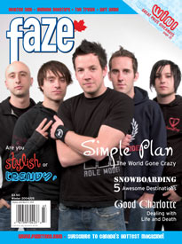 Simple Plan Faze Magazine Cover Issue 18