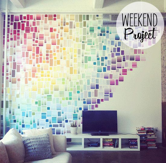 Paint Chip DIY Wall