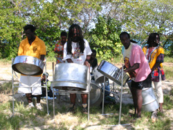 Tobago steel pan players