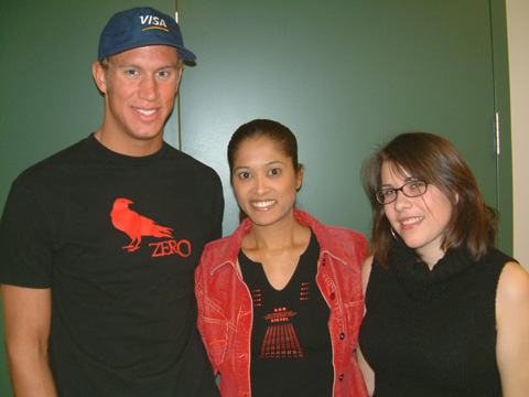 Olympic swimmer Brent Hayden with Lorraine from Faze