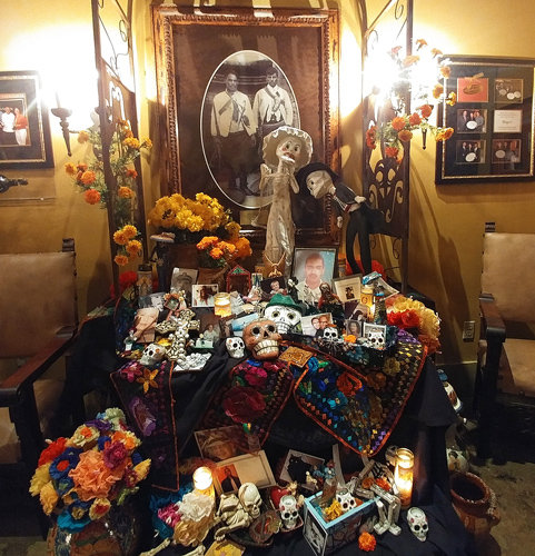 Mexican Ofrenda at Hugo's Restaurant