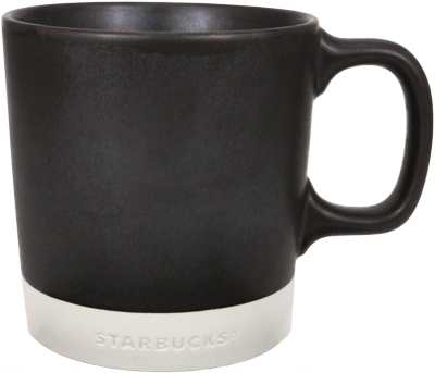 Ceramic Stacking Handle Mug Black 14 oz
