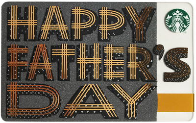 starbucks gift card father's day