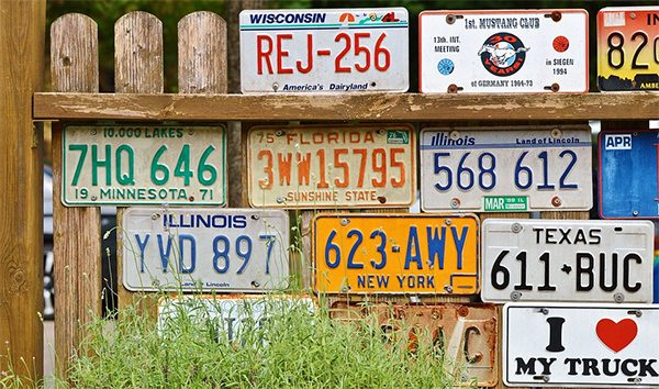 Road Trip Games - License Plates