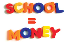 school = money