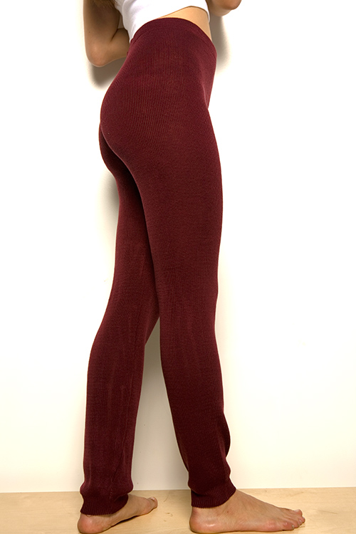 burgundy American Apparel leggings