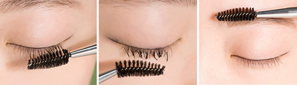 brush lashes
