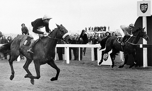 Crisp and Red Rum in the Grand National at Aintree – 1973