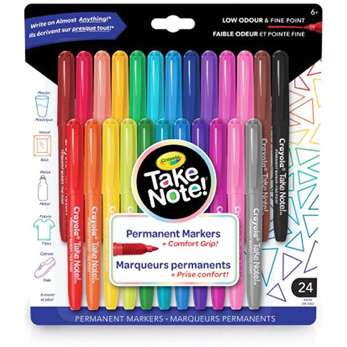 Crayola Take Note Permanent Markers
