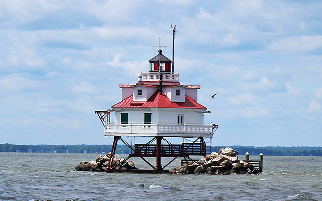Thomas Point Shoal Light. Lighthouse