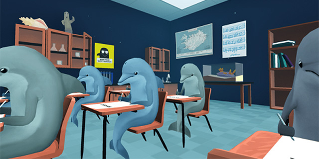 vr classroom - virtual learning