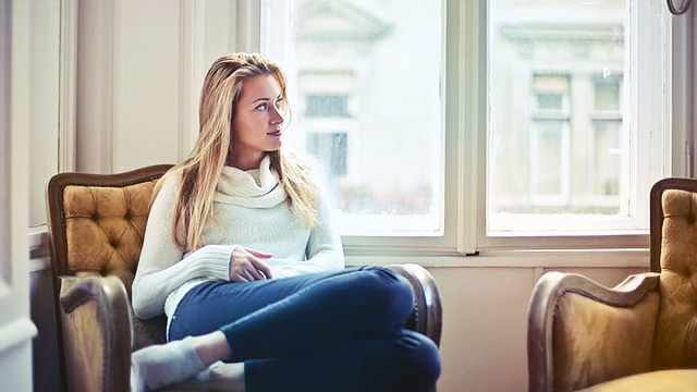 pick windows that are soundproof woman sitting