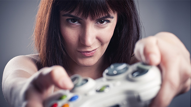 console gamer girl