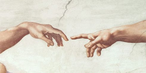 social distancing adam hands god